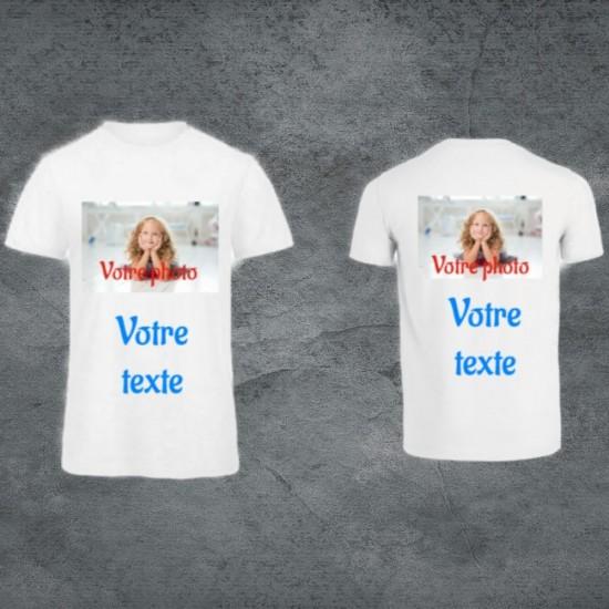 Tee-shirts blanc unisexe à...