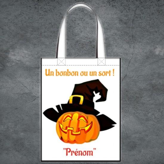 Tote Bag Halloween citrouille à personnaliser
