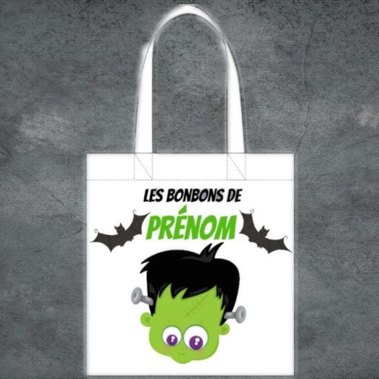 Tote Bag Halloween Frankenstein à personnaliser