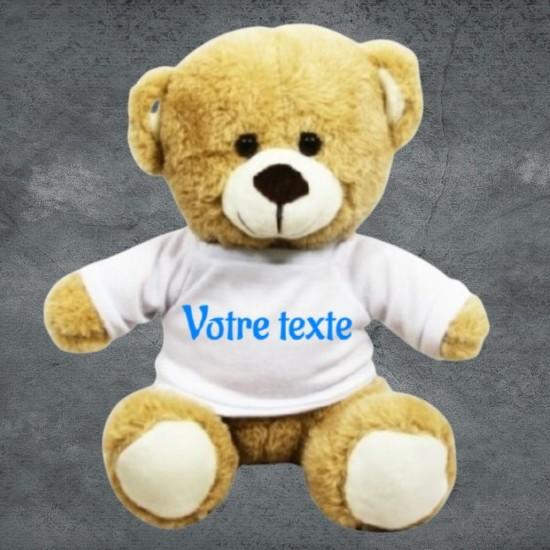 Peluche ours avec t-shirt à personnaliser