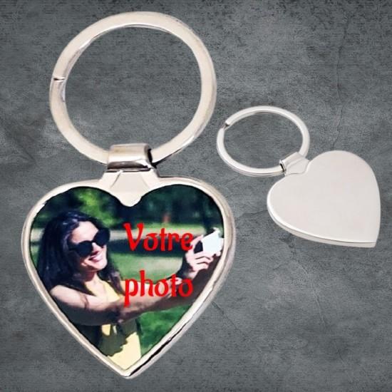 Porte-clés cœur à personnaliser