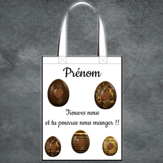 Tote Bag paque chocolat à personnaliser
