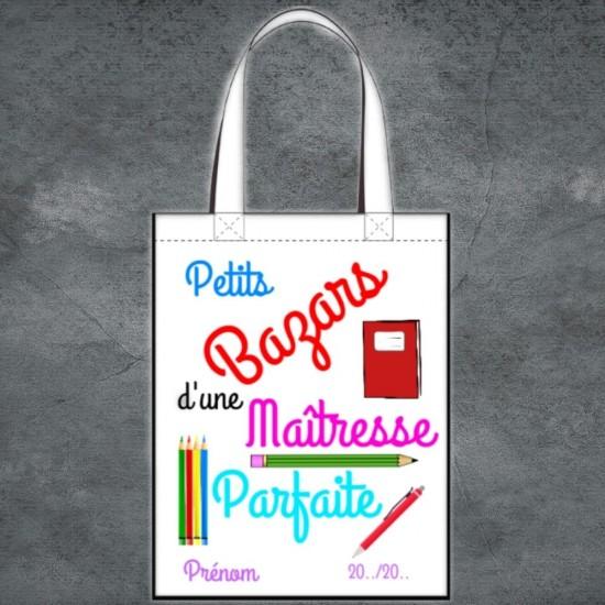 Tote Bag Petits Bazars Maîtresse à personnaliser