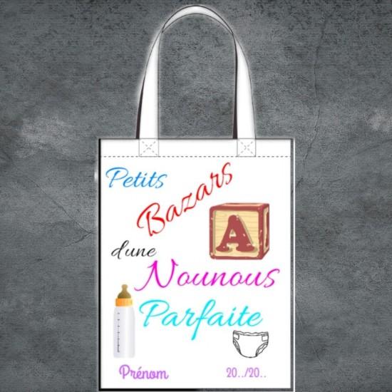 Tote Bag Petits Bazars Nounou à personnaliser